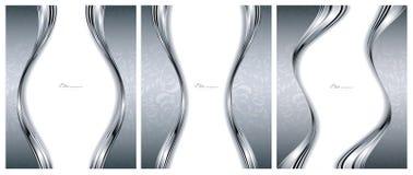 Modelli d'argento astratti degli ambiti di provenienza Fotografie Stock