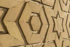 Modelli decorativi e dettagli architettonici di madrasah a Buchara, l'Uzbekistan fotografia stock libera da diritti