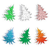 Modelli degli alberi del nuovo anno Fotografia Stock