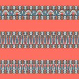 Modelli degli elementi della decorazione del confine Metta degli ornamenti orizzontali fatti nei colori alla moda di 2019 royalty illustrazione gratis