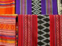 Modelli degli ornamenti dei tessuti culturali tradizionali del LAOS immagini stock