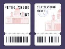 Modelli dei biglietti Fotografia Stock