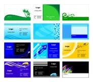 Modelli dei biglietti da visita Fotografia Stock Libera da Diritti