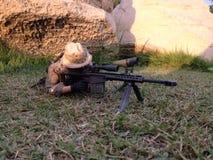 Modelli dei militari del tiratore franco di Pmc Fotografia Stock Libera da Diritti
