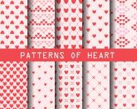 Modelli del cuore Fotografie Stock