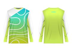 Modelli del jersey di MTB immagini stock