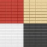 Modelli del muro di mattoni Fotografie Stock