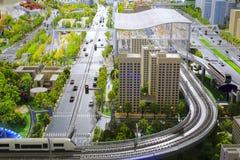 Modelli del sistema di trasporto di trasporto pubblico urbano Fotografia Stock