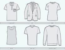 Modelli dell'abbigliamento degli uomini illustrazione di stock