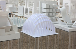 Modelli dell'allievo di architettura Fotografia Stock Libera da Diritti