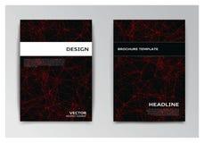 Modelli dell'opuscolo con gli elementi astratti Immagini Stock Libere da Diritti