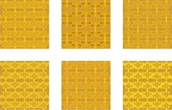 Modelli dell'oro nella progettazione del broccato illustrazione vettoriale