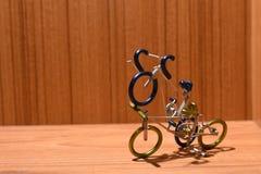 Modelli della bicicletta e aree di testo Fotografie Stock