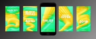 Modelli della carta da parati del telefono con forma astratta 3d royalty illustrazione gratis