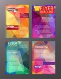 Modelli della disposizione di progettazione dell'aletta di filatoio dell'opuscolo di vettore Estratto Fotografia Stock Libera da Diritti