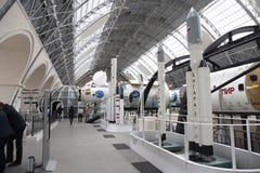 Modelli della mostra dello spazio del padiglione dei razzi dei risultati di economia nazionale Fotografie Stock
