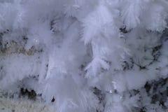 Modelli della neve sulla parete Fotografie Stock Libere da Diritti