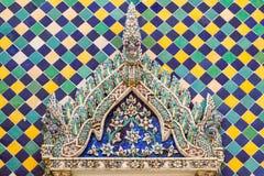 Modelli della porta del monastero Immagine Stock