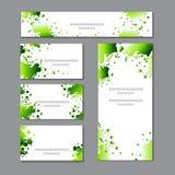 Modelli della primavera con i punti verdi dell'acquerello Per romantico e progettazione, annunci, cartoline d'auguri, manifesti,  illustrazione di stock