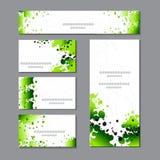 Modelli della primavera con i punti verdi dell'acquerello Per romantico e progettazione, annunci, cartoline d'auguri, manifesti,  illustrazione vettoriale
