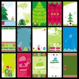 Modelli delle cartoline di Natale Fotografia Stock
