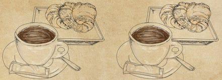 Modelli delle insegne con caffè Fotografie Stock Libere da Diritti