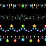 Modelli delle luci di Natale illustrazione vettoriale