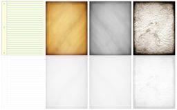 Modelli delle pagine Fotografie Stock Libere da Diritti