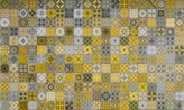 Modelli delle piastrelle di ceramica dal Portogallo Fotografie Stock Libere da Diritti