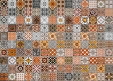 Modelli delle piastrelle di ceramica dal Portogallo immagini stock libere da diritti