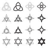 Modelli delle stelle dei nodi del celtico determinati Fotografia Stock Libera da Diritti