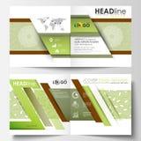 Modelli di affari, opuscolo quadrato del popolare della Bi di progettazione, aletta di filatoio Copertura dell'opuscolo, disposiz Fotografia Stock Libera da Diritti