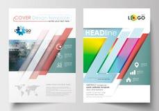 Modelli di affari per l'opuscolo, la rivista, l'aletta di filatoio, il libretto o il rapporto annuale Riguardi la progettazione,  Fotografia Stock Libera da Diritti