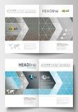 Modelli di affari per l'opuscolo, rivista, aletta di filatoio Modello di copertura, disposizione piana nella dimensione A4 Ricerc Fotografie Stock