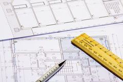 Modelli di architettura fotografia stock