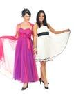 Modelli di bellezza in vestiti eleganti Fotografie Stock Libere da Diritti
