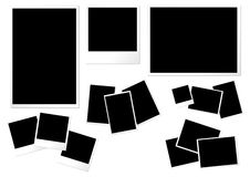 Modelli di carta della foto Immagine Stock