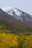 Modelli di colore che alzano il lato della montagna in autunno, il Yukon Fotografia Stock Libera da Diritti