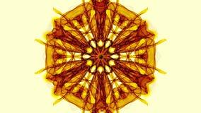 Modelli di frattale dell'oro su fondo beige, video in tensione di frattale, mandala per la verifica di armonia archivi video