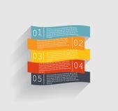Modelli di Infographic per il vettore di affari Fotografie Stock
