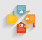 Modelli di Infographic per il vettore di affari Fotografia Stock Libera da Diritti