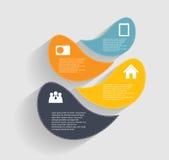 Modelli di Infographic per il vettore di affari Immagine Stock