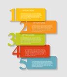 Modelli di Infographic per il vettore di affari Fotografie Stock Libere da Diritti