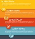 Modelli di Infographic per il vettore di affari Fotografia Stock