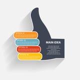 Modelli di Infographic per l'illustrazione di vettore di affari Immagine Stock Libera da Diritti