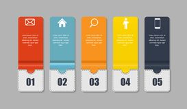 Modelli di Infographic per l'illustrazione di vettore di affari. Fotografie Stock Libere da Diritti