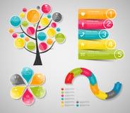 Modelli di Infographic per l'illustrazione di vettore di affari Immagine Stock