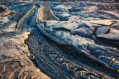 Modelli di lava raffreddata fusa Fotografie Stock Libere da Diritti