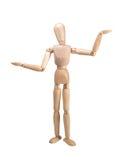 Modelli di legno di ponderazione (Libra) Fotografia Stock Libera da Diritti