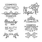 Modelli di logo di bellezza e di cura di vettore Immagine Stock Libera da Diritti